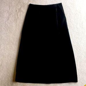 Very Good Vintage Marsh Landing Black Suede Skirt
